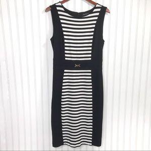 White House Black Market Sleeveless Dress Sz 10